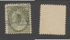 Used Canada 20 Cent Queen Victoria Numeral Stamp #84 (Lot #17971)