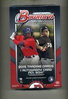 2015 Bowman Baseball Hobby Factory Sealed 2 Box Lot-Free Priority shipping