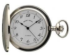 Mount Royal Chrome Plated Hunter Pocket Watch, Swiss 17 Jewel Mechanical ref B11