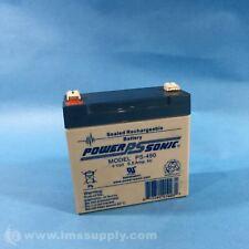 Power Sonic PS-490 Rechargeable Battery, Rectangular FNIP