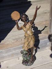 Statue Sculpture en Bronze Polychrome Art Nouveau Signé G.Desmeure Belle Epoque