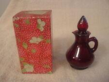 Vintage 1970's Avon Strawberry  Bath Foam Decanter bottle in orig box empty bott