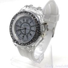 Luminous Glow In The Dark Wristwatch Men Women Silicone Band Casual Quartz Watch