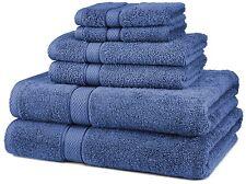 6-Piece Egyptian Cotton Luxury Towel Set, Bath, Hand Towels & Washcloths, Blue