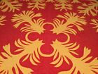 Hawaiian Appliqued quilt vintage 65x65 Lap Or Wall hanging Orange Yellow