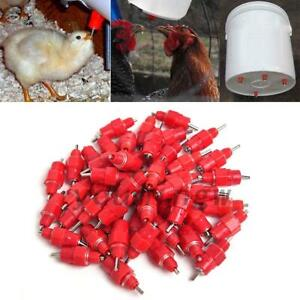 20/50Pcs Automatic Poultry Water Nipple Useful Chicken Duck Drinker Feeder Red