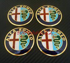 Alloy Tyre Wheel Center Hub Cap Rims Alfa Romeo Emblem Badge Stickers t#425