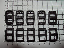 "10pcs.Plastic 3 Bar Slides Tri Glide Fasteners Clip Buckles for Webbing-10mm ""R"""