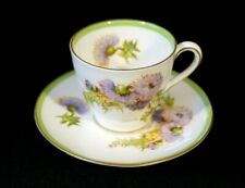 Beautiful Royal Doulton Glamis Thistle Demitasse Cup And Saucer