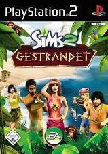 Play Station 2 Spiel PS2 Die Sims 2 Gestrandet mit Anleitung guter Zustand + OVP