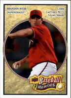 2008 Upper Deck Heroes Baseball Card Pick 1-200