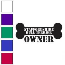 Staffordshire Bull Terrier Owner Decal Sticker Choose Color + Large Size #lg1637