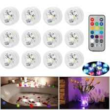 8/12 Waterproof LED Submersible LED Lights Decoration Wedding Party RGB w/Remote