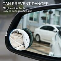 Universal 2PCS Car Round Blind Spot Mirror Auxiliary Rearview HD Convex Mirrors