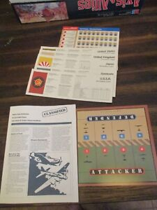)Axis & Allies Cards Instructions Only 1942 Edition Game parts replacement