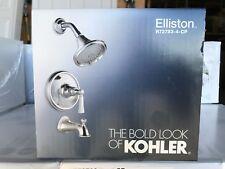 Kohler Elliston Tub & Shower Faucet 2.0 GPM Showerhead Polished Chrome w/ Valve