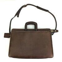Vintage Joseph Daniel Handmade Soft Brown Leather Briefcase Business Bag