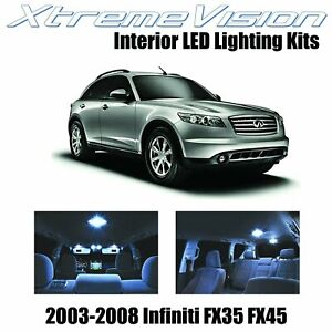 XtremeVision LED for Infiniti FX35 FX45 2003-2008 (13 Pieces) Cool White Premium