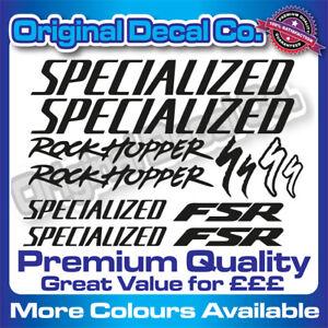 Premium Quality Specialized Rockhopper FSR Bike Decals Stickers bike frame mtb