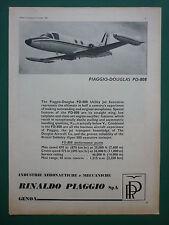 10/1966 PUB PIAGGIO DOUGLAS PD-808 JET / RFD LIFERAFT SAS SWISSAIR AIRLINES AD