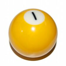 Pool Ball Pool Gear Knob, Yellow 1 Spot, Threaded To Your Custom Specification