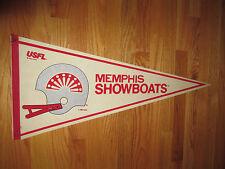 """1982 USFL MEMPHIS SHOWBOATS 30"""" Pennant U"""