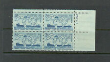 US USA Sc# 1069 MNH FVF PLATE # BLOCK Great Lakes Map Ship Superior Ontario Erie