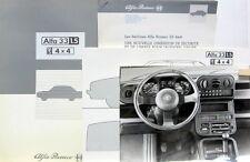 ALFA ROMEO 33 4 X 4 CARROSSE PAR PININFARINA DOSSIER DE PRESSE
