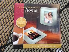 Sarah Peyton  Home Glass Photo  Drink Coasters Set of 4