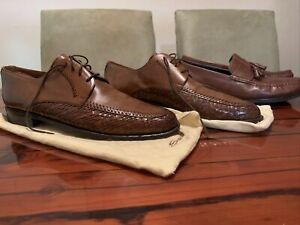 magnani shoes size 14 and 13 cole haan loafer lace up lot