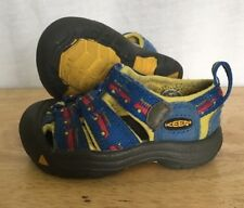 Keen Shoes Baby Toddler Size 4 Cars Print Blue