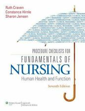 Procedure Checklists for Fundamentals of Nursing : Human Health and Function