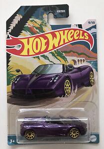 2021 HOT WHEELS Convertibles - '17 Pagani Huayra Roadster (Purple #9/10) New