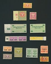 GERMANY STAMPS 1933-1945 NAZI REVENUES INC WEHRMACHT, BLUT & BODEN, SAVINGS