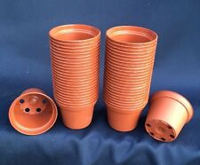 Short & Cute Poppelmann Teku To5.5, Plastic Flower Pots. Lot Of 50 New