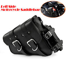 Motorcycle Left Saddlebag Tool Bag + Fuel Oil Bottle Holder For Harley Sportster