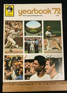 1972 VINTAGE OFFICIAL PITTSBURGH PIRATES YEARBOOK WORLD CHAMPION