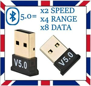 USB Bluetooth 5.0 Adapter Wireless Dongle High Speed For PC ps4 Windows 7 8 10