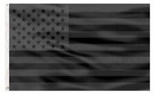 PringCor 3x5FT All Black American Flag US Black Flag Tactical Decor Blackout USA