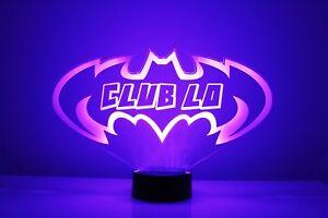 Batman Personalized Superhero LED Night Light Lamp Touch Desk Lamp 16 Color Gift