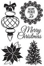 Kaisercraft - clear cling stamps - Christmas Wishes stamps - 5 stamps