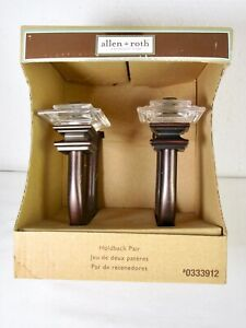 Allen + Roth Holdback Curtain Ties Clear Acrylic Oil Rubbed Bronze New