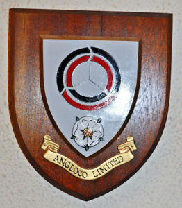 Angloco Limited wall plaque shield crest coat of arms fire and rescue vehicles