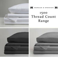 MORGAN AND SPENCER 1500TC THREAD COUNT COTTON RICH LUXURY SHEET RANGE