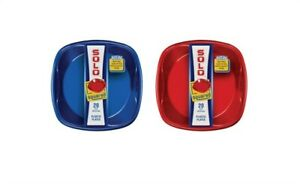 Solo SQP920 Plastic Red/Blue Everyday Square Plates 9 Dia. in. (Pack of 12)