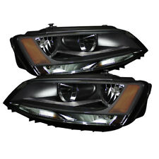 Volkswagen 11-17 Jetta Black Housing Replacement Headlights Left & Right Set
