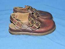 Vintage Doc Dr Martens 6 38 Brown Clog Shoes Ankle Strap Buckle Leather England