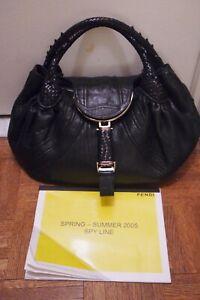 Vintage Black Fendi Spy Bag & 2005 Lookbook