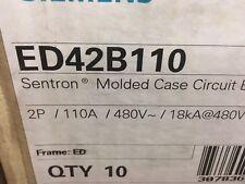 NEW SIEMENS ED42B110 2P 110AMP 480V CIRCUIT BREAKER