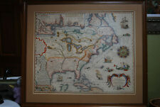 Antique Vintage Map North America French New France Louisiana 1698 Canada USA